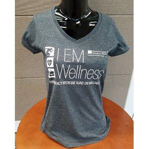 "Ladies ""Wellness"" V-Neck T-Shirt - SMALL"