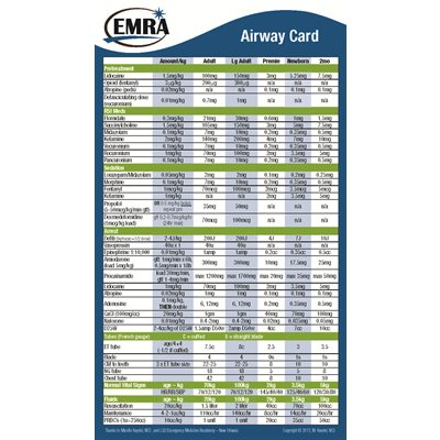 EMRA Airway Card