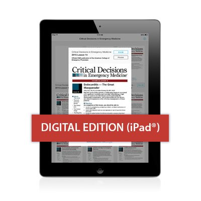 Critical Decisions in Emergency Medicine for iPad® Single Lessons with CME (APP Store)