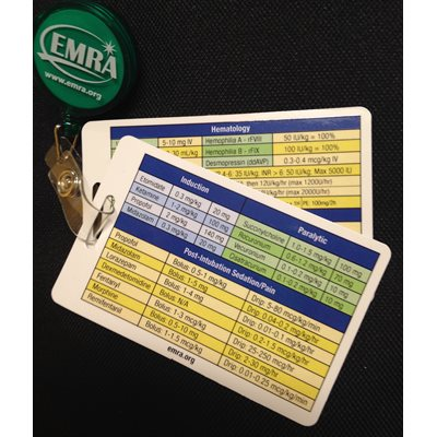 EMRA Critical Medications Dosage Badge Cards