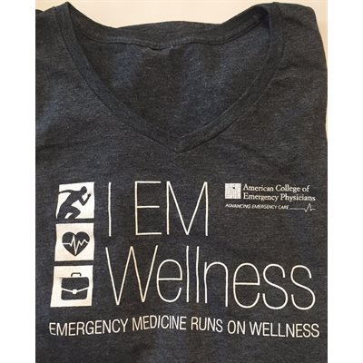 "Ladies ""Wellness"" V-Neck T-Shirt - LARGE"